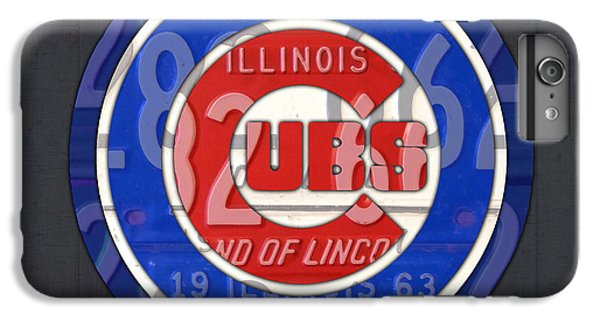 Chicago Cubs Baseball Team Retro Vintage Logo License Plate Art IPhone 6 Plus Case
