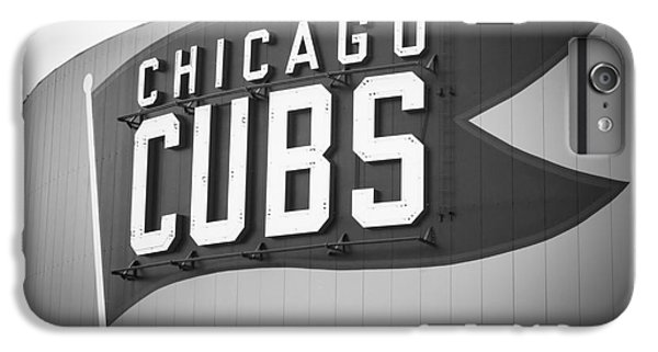 Chicago Cubs Wrigley Field Sign Black And White Picture IPhone 6 Plus Case by Paul Velgos