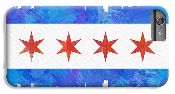 Chicago Flag Watercolor IPhone 6 Plus Case by Mike Maher