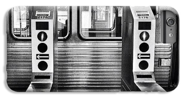 City iPhone 6 Plus Case - Chicago L Train Gate In Black And White by Paul Velgos