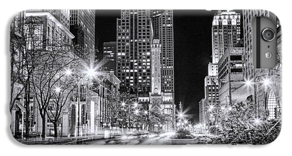Chicago Michigan Avenue Light Streak Black And White IPhone 6 Plus Case