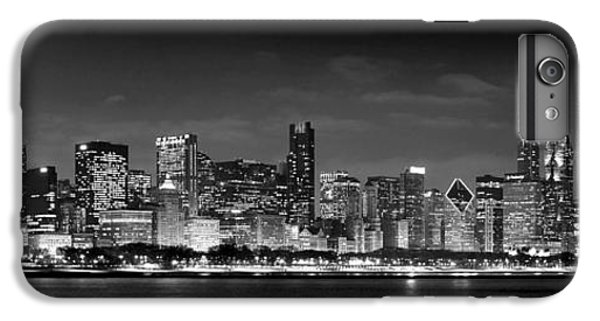 Chicago Skyline At Night Black And White IPhone 6 Plus Case by Jon Holiday