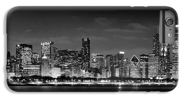 Chicago Skyline At Night Black And White IPhone 6 Plus Case
