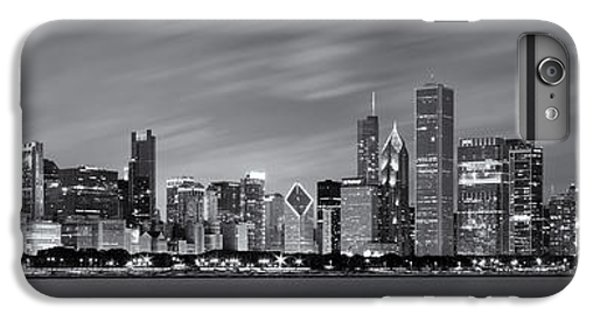 Chicago Skyline At Night Black And White Panoramic IPhone 6 Plus Case