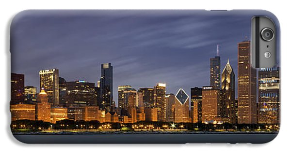 Chicago Skyline At Night Color Panoramic IPhone 6 Plus Case by Adam Romanowicz