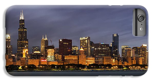 Chicago Skyline At Night Color Panoramic IPhone 6 Plus Case