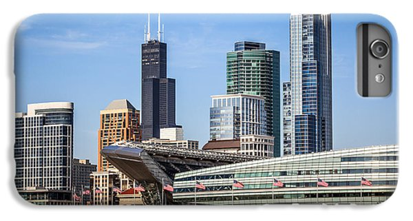 Chicago Skyline With Soldier Field And Sears Tower  IPhone 6 Plus Case by Paul Velgos