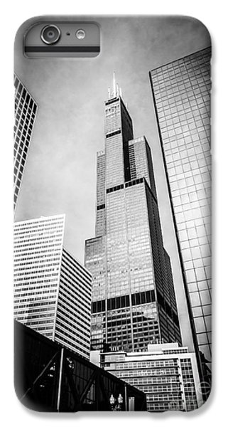 Chicago Willis-sears Tower In Black And White IPhone 6 Plus Case