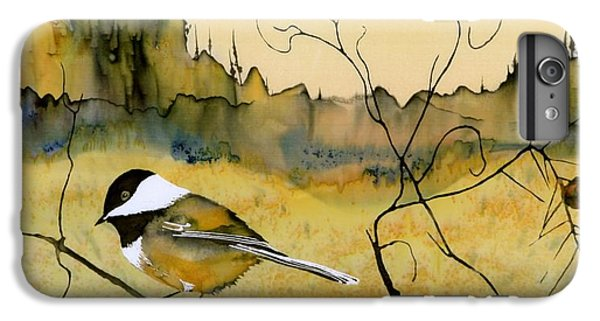 Chickadee In Dancing Pine IPhone 6 Plus Case by Carolyn Doe