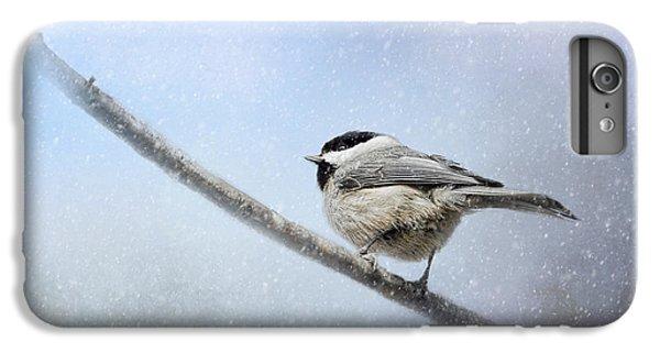 Chickadee In The Snow IPhone 6 Plus Case by Jai Johnson