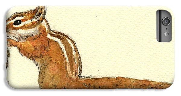 Squirrel iPhone 6 Plus Case - Chipmunk by Juan  Bosco