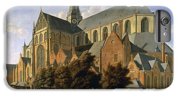 Harlem iPhone 6 Plus Case - Church Of St. Bavo In Haarlem, 1666 Oil On Panel by Gerrit Adriaensz Berckheyde