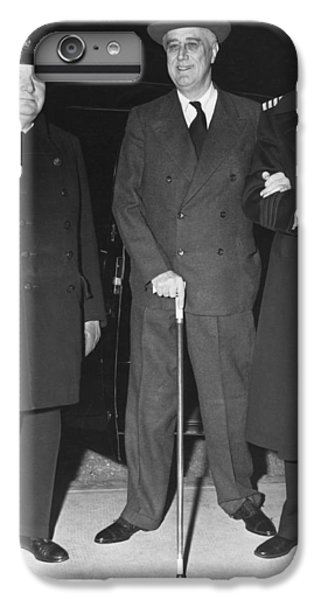 Churchill And Roosevelt IPhone 6 Plus Case by Underwood Archives