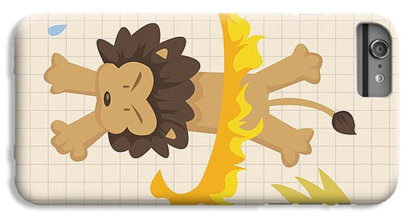 Lion iPhone 6 Plus Case - Circus Theme Elements by Notkoo
