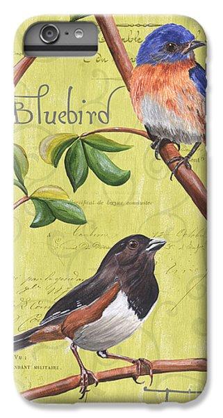 Bluebird iPhone 6 Plus Case - Citron Songbirds 1 by Debbie DeWitt