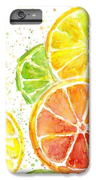 Lime iPhone 6 Plus Case - Citrus Fruit Watercolor by Olga Shvartsur