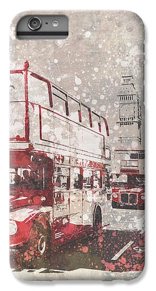 City-art London Red Buses II IPhone 6 Plus Case by Melanie Viola