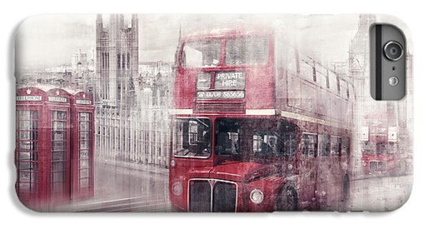 City-art London Westminster Collage II IPhone 6 Plus Case by Melanie Viola