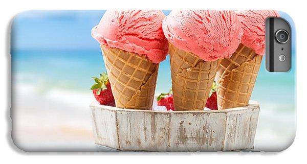 Close Up Strawberry Ice Creams IPhone 6 Plus Case by Amanda Elwell