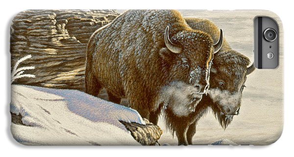 Buffalo iPhone 6 Plus Case - 'cold Day At Soda Butte' by Paul Krapf