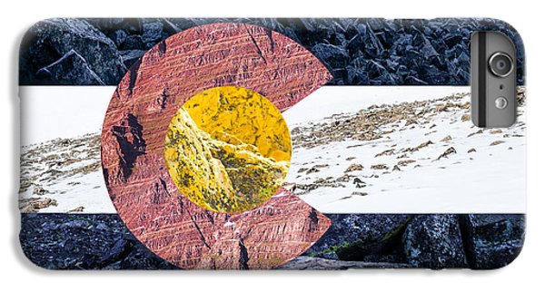 Colorado State Flag With Mountain Textures IPhone 6 Plus Case