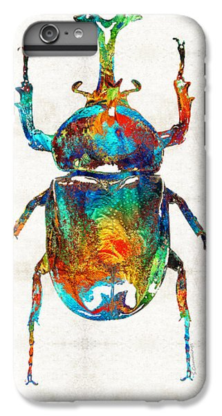 Colorful Beetle Art - Scarab Beauty - By Sharon Cummings IPhone 6 Plus Case