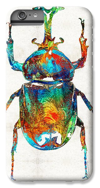 Colorful Beetle Art - Scarab Beauty - By Sharon Cummings IPhone 6 Plus Case by Sharon Cummings
