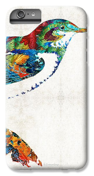 Chickadee iPhone 6 Plus Case - Colorful Bird Art - Sweet Song - By Sharon Cummings by Sharon Cummings