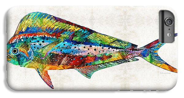 Colorful Dolphin Fish By Sharon Cummings IPhone 6 Plus Case by Sharon Cummings