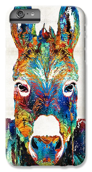 Colorful Donkey Art - Mr. Personality - By Sharon Cummings IPhone 6 Plus Case