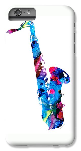 Music iPhone 6 Plus Case - Colorful Saxophone 2 By Sharon Cummings by Sharon Cummings