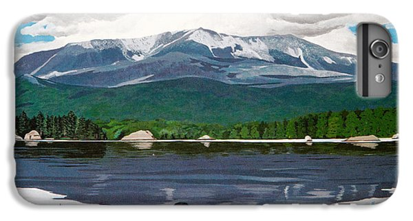 Loon iPhone 6 Plus Case - Common Loon On Togue Pond By Mount Katahdin by Stella Sherman