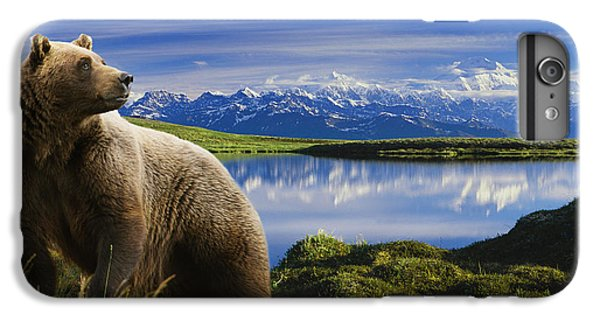 Composite Grizzly Stands In Front Of IPhone 6 Plus Case