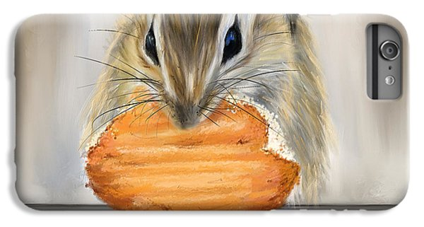 Cookie Time- Squirrel Eating A Cookie IPhone 6 Plus Case by Lourry Legarde