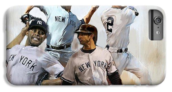Core  Derek Jeter Mariano Rivera  Andy Pettitte Jorge Posada IPhone 6 Plus Case by Iconic Images Art Gallery David Pucciarelli
