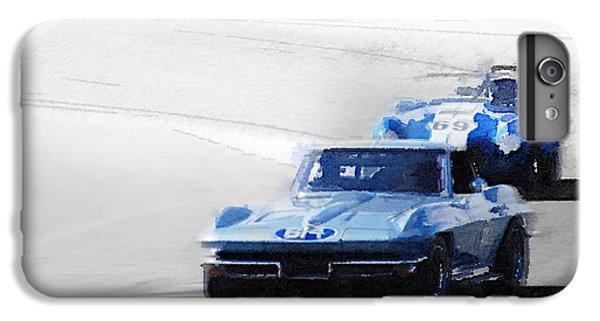 Cobra iPhone 6 Plus Case - Corvette And Ac Cobra Shelby Watercolor by Naxart Studio
