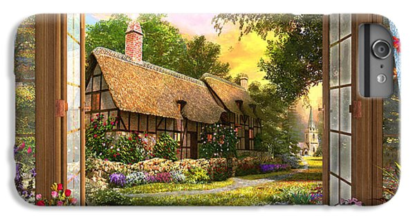IPhone 6 Plus Case featuring the drawing Country Cottage View by Dominic Davison