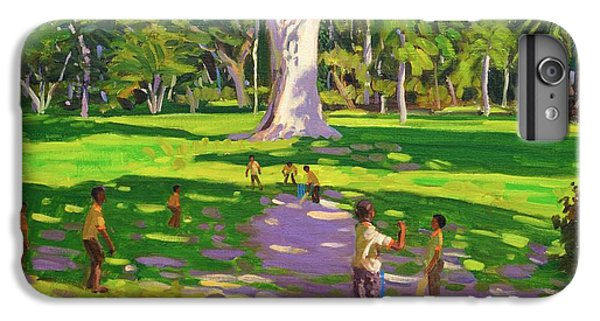 Cricket iPhone 6 Plus Case - Cricket Match St George Granada by Andrew Macara