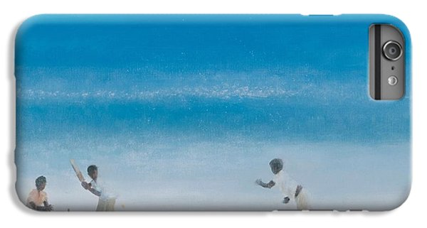 Cricket iPhone 6 Plus Case - Cricket On The Beach, 2012 Acrylic On Canvas by Lincoln Seligman