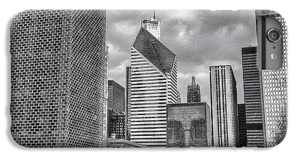 Chicago Crown Fountain Black And White Photo IPhone 6 Plus Case