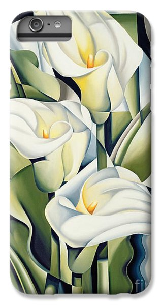 Cubist Lilies IPhone 6 Plus Case by Catherine Abel