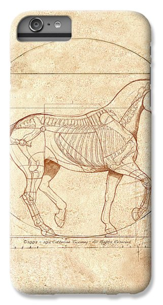Animals iPhone 6 Plus Case - da Vinci Horse in Piaffe by Catherine Twomey