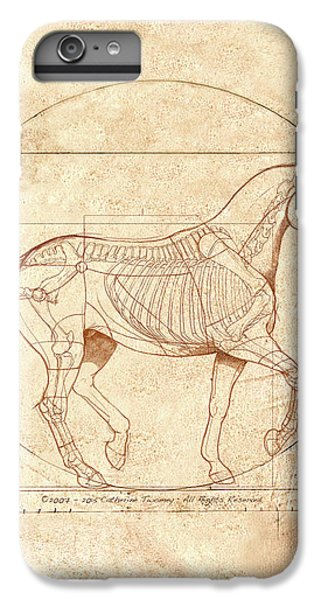 Scenic iPhone 6 Plus Case - da Vinci Horse in Piaffe by Catherine Twomey