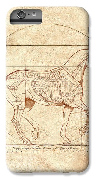 da Vinci Horse in Piaffe IPhone 6 Plus Case by Catherine Twomey