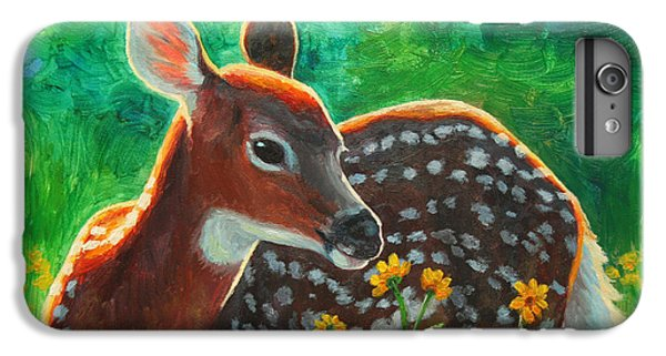 Deer iPhone 6 Plus Case - Daisy Deer by Crista Forest
