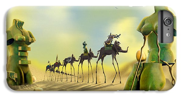 Dali On The Move  IPhone 6 Plus Case by Mike McGlothlen