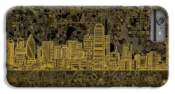 Dallas Skyline Abstract 3 IPhone 6 Plus Case