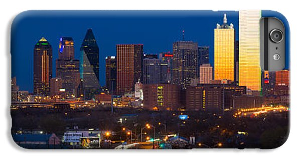 Dallas Skyline Panorama IPhone 6 Plus Case by Inge Johnsson