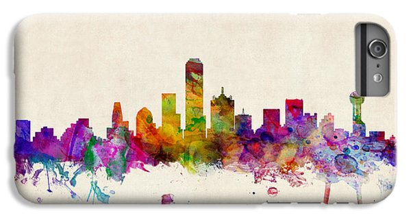 Dallas Texas Skyline IPhone 6 Plus Case by Michael Tompsett