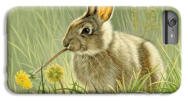 Rabbit iPhone 6 Plus Case - Dandi-nibbler by Paul Krapf